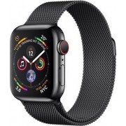 Apple Watch Series 4 (GPS + Cellular) Edelstahl 40mm black mit Milanaise-Armband black