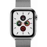 Apple Watch Series 4 (GPS + Cellular) Edelstahl 40mm silber mit Milanaise-Armband silber (MTVK2FD/A)